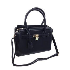 Elegant black lock lady bags